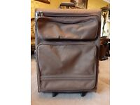 BRICS LARGE 2 WHEEL 'AVIAS' ROLL SUITCASE CANVAS EXTRA FRONT POCKETS / CABIN CASE AVAILABLE