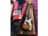 Bass guitar / bag / book
