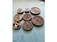 Cast iron weights plates set 95kg total