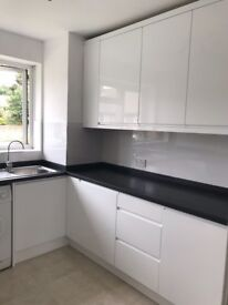 Two double bedroomed first floor flat/maisonette. Refurbished. New kitchen new bathroom new carpets