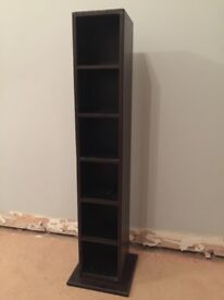 Brown Leather CD Storage Tower
