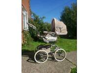 Stunning taupe lace luxery stylo class bebecar pram
