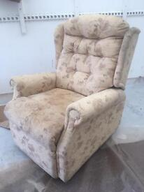 Floral chair, recliner