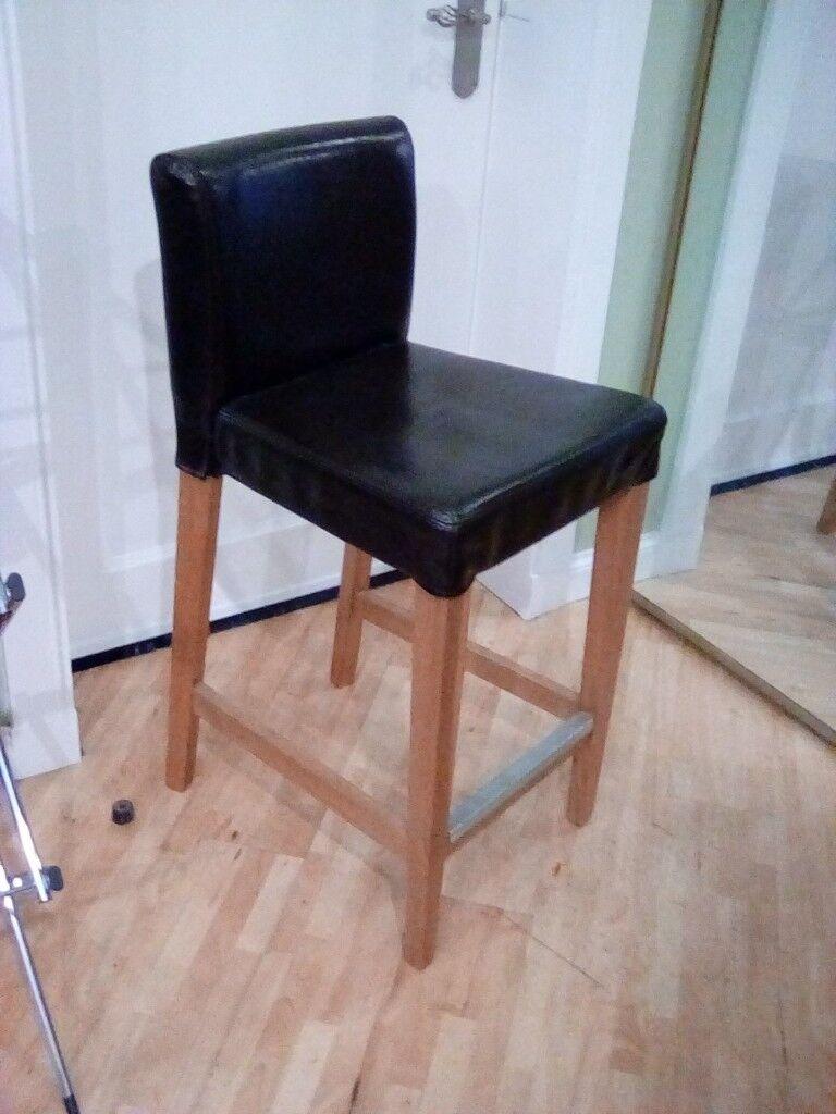 Pleasant Ikea Henriksdal Bar Stool With Backrest In East Calder West Lothian Gumtree Machost Co Dining Chair Design Ideas Machostcouk