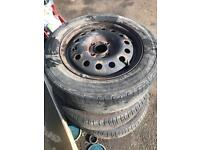 Set Of Fiesta Wheels And Tyres 195/60/15