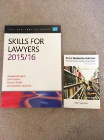 Skills for Lawyers 2015/16 and From Student to Solicitor