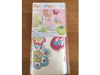 Girls butterfly and flower wall stickers