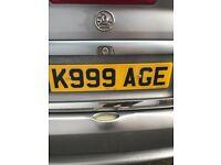 Private Registration K999 AGE