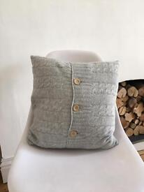 Cashmere knitted cushion with feather inner john lewis