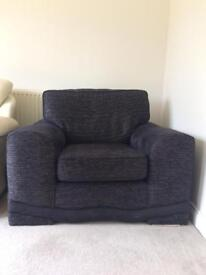 *Cancer Research- Large Black comfy chair