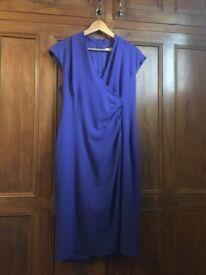 LK Bennett Dress - Never worn. Size 18. Cornflower blue with fixed wrap.