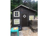 WOODEN CHILDRENS PLAYHOUSE 2 storey