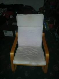 White recline chair