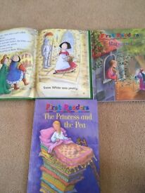 Set of 3 first readers books- the princess and the pea, Snow White and Rapunzel