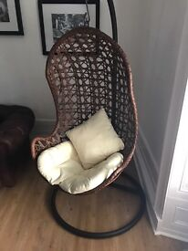 For sale: excellent condition hanging egg basket Chair