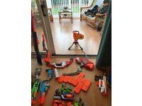 Large selection of nerf guns