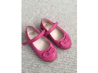 2x girls clarks shoes infant size 4.5F