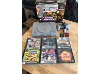 PlayStation 1 c/w games and g-con gun