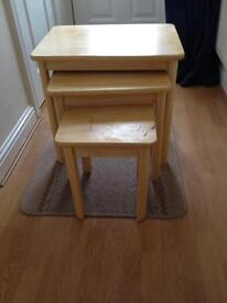 Three piece side table