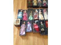 Disney characters porcelain dolls collectables in original packaging