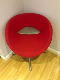 2 lovely red chairs £40