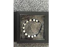 Tresor Paris silver shamballa bracelet