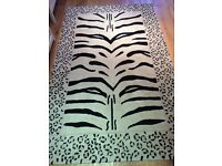 Huge high quality thick leopard rug