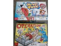 Operation and Mouse Trap board games