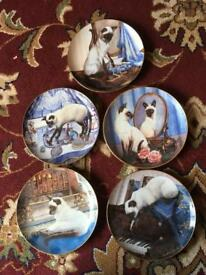 Set of limited edition fine porcelain plates for a cat lover just £10