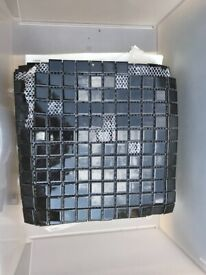 Black mosaic wall tiles