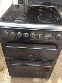 Black Hotpoint electric cooker 60cm