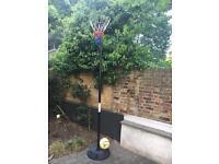 Netball net and Gilbert ball