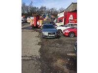 Damaged Audi A8 LWB 4.2 TDI.