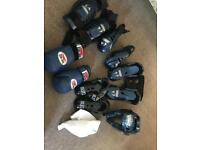 Kids small martial arts kit and boxing gloves