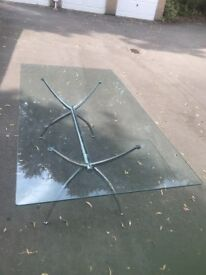 Glass dining table - John Lewis