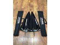 2x Profoto Umbrella Deep White S for photographer studio or location shooting