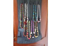 EIGHT NEW/UNUSED NECKLACES VARIOUS COLOURS AND SIZES - REASONABLE OFFERS