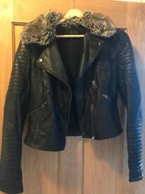 Topshop leather jacket size 12, (size 10-12)