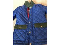 Boys blue quilted coat