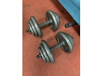 Cast Iron Dumbbell Set 36kg (18kg each bar)