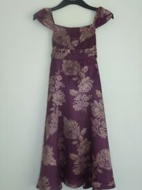 Girl's 'Monsoon' Mauve Dress with Floral Motif