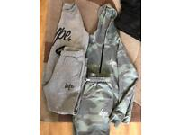 Hype tracksuit top and bottoms Age 11-12