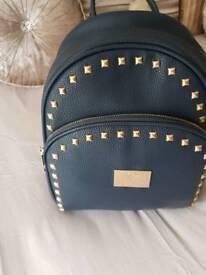 Black designer backpack