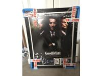 Goodfellas movie poster signed by the original Henry hill