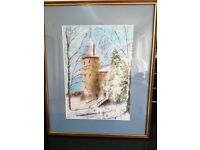 Castle Coch framed picture