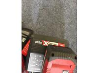 Oxito battery grass strimmer 4amp rechargable