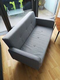 Ramona Sofa Settee Grey Small Two 2 Seater Very Good Condition COLLECTION ONLY