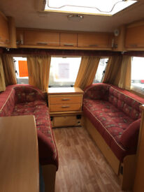 SOLD Two Berth touring Caravan 2004 end wash room with motor mover