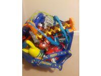 Big bag of toys Superhero cars train tracks and many more