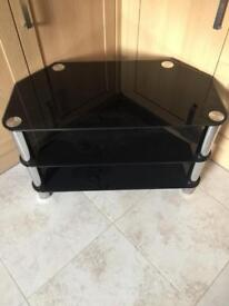 Mount right Black Glass TV Stand